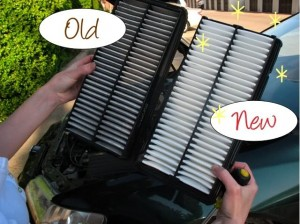 Dirty air filter vs clean air filter