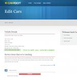 Edit the car details